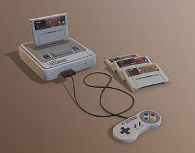Super Nintendo EU 3D model