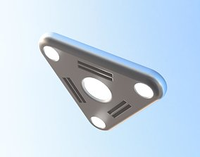 3D printable model Ufo triangle