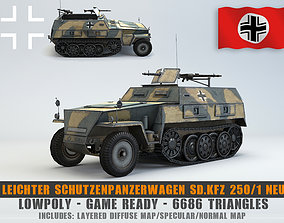 Low Poly Schutzenpanzerwagen SdKfz 250 1 Neu 3D model