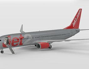Boeing 737-800 Jet2 3D asset