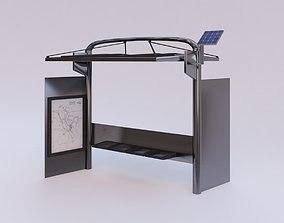 3D model Sustainable Bus stop