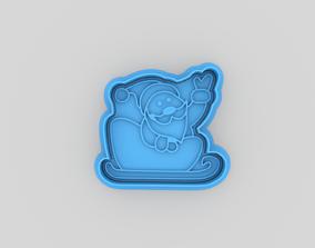 Santa Claus cookie cutter 3D printable model