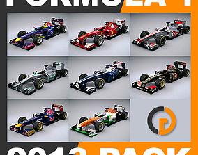 3D model F1 2013 Cars and Helmets