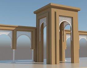 Traditional Moroccan Door 3D model decor