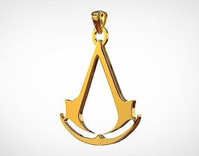 Assassins Creed Logo Pendant 3D print model