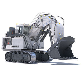 Excavator LIEBHERR R996 3D model