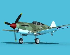 3D Curtiss P-40B Tomahawk V09 New Zealand