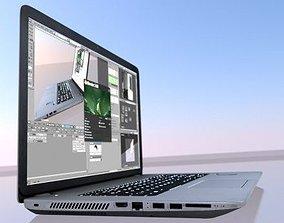keyboard HP Laptop High Poly 3D