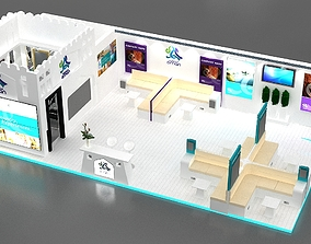 3D Exhibition stall collection 01