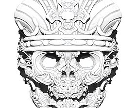 Crown King Skull Ring Detailed Jewelry 3D print model