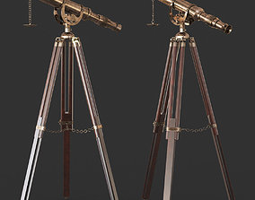 Vintage Antique Tripod Telescope 3D