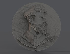 Barber Shop Logo 3D printable model