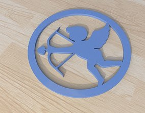 3D print model cupid archer love coaster