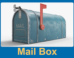Mail Box 3D model low-poly