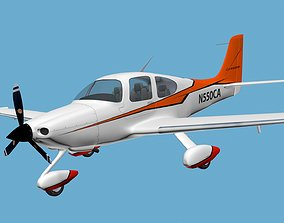 Cirrus Sr-22 airplane high detailed 3D