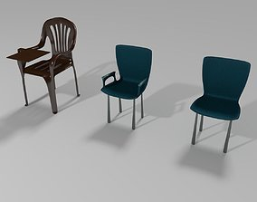 3D Plastic Chairs Collection 4