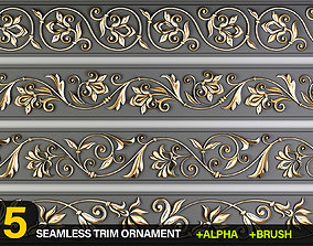 3D model 5 Decorative Seamless Trim Ornament Alpha and