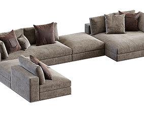 3D Minotti Hamilton Angle Modular Sofa