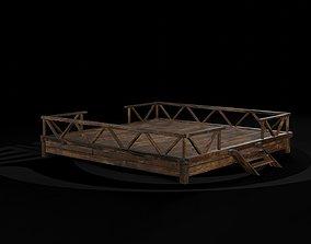 AAA Medieval Primal Jungle Wooden Platform 01 R 3D asset