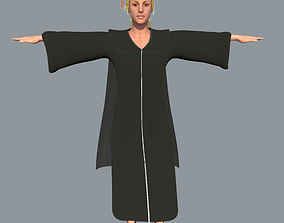 Academic Gown Female Graduate 3D rigged VR / AR ready 1