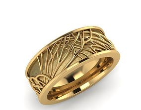 3D printable model Tree of Life Wedding Band