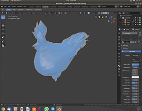 VR / AR ready Hen model
