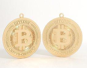 Pendant bitcoin 3D print model pendant