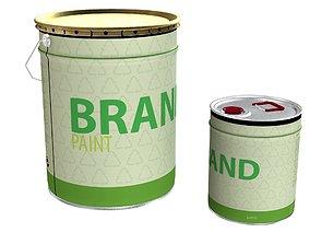 Paint cans 3D