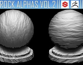 3D model ZBrush Rock Alphas