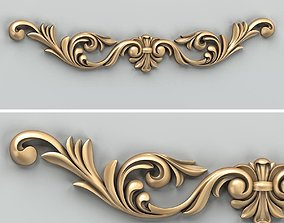 Carved decor horizontal 026 3D
