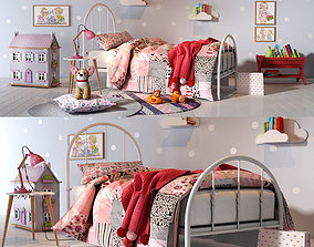 Girl bedroom set 01 3D