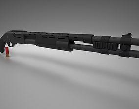 Remington 870 Tactical 3D asset
