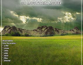 3D model Mountain landscape exterior