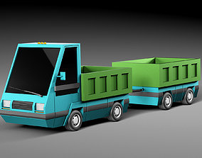 Cartoon electric car v3 3D model