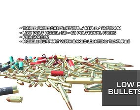 3D model Low Poly Bullets Pack