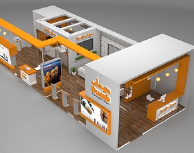 3D Exhibition Stand Booth 90sqm