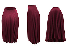 Skirts Accordion Pleated 3D