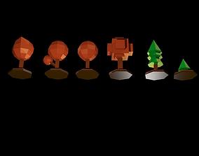 Trees autumn 3D asset