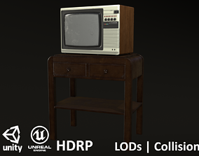 3D model Soviet Elektron TV Brown and White with a