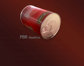 3D model Tin Can PBR pack 01