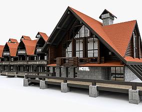 3D model Alpine Hotel