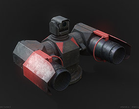 3D asset game-ready Ten Realistic Turrets