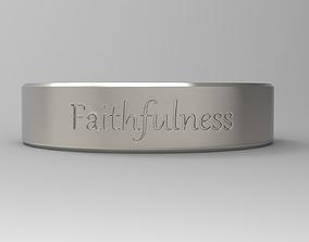 3D print model Faithfulness ring platinum