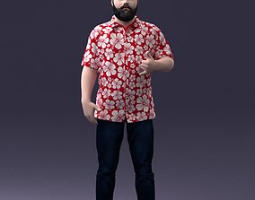 3D Man in colorful shirt 1121