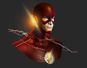 The Flash 3D model low-poly