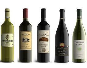 Wine Bottles Collection 3D model