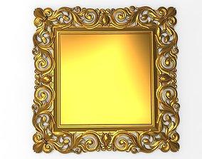 mirror carved frame 3D