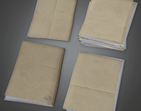CLA - Folder Stack - PBR Game Ready 3D model