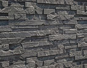 3D stone wall architectural