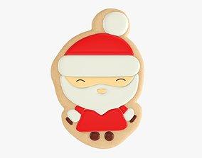 Santa Claus Christmas cookie 3D model
